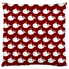 Cute Whale Illustration Pattern Large Flano Cushion Cases (two Sides)