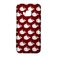 Cute Whale Illustration Pattern HTC One M9 Hardshell Case
