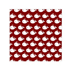 Cute Whale Illustration Pattern Small Satin Scarf (Square)