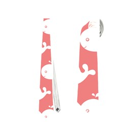 Cute Whale Illustration Pattern Neckties (One Side)