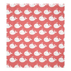 Cute Whale Illustration Pattern Shower Curtain 66  x 72  (Large)