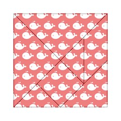 Cute Whale Illustration Pattern Acrylic Tangram Puzzle (6  x 6 )