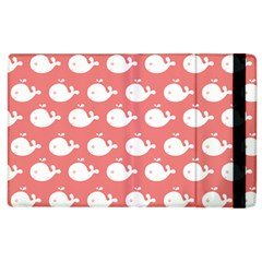 Cute Whale Illustration Pattern Apple Ipad 2 Flip Case