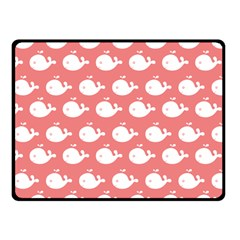 Cute Whale Illustration Pattern Double Sided Fleece Blanket (Small)