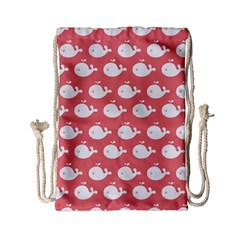 Cute Whale Illustration Pattern Drawstring Bag (Small)