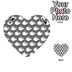 Cute Whale Illustration Pattern Playing Cards 54 (heart)
