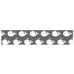 Cute Whale Illustration Pattern Flano Scarf (small)