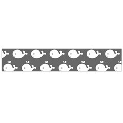 Cute Whale Illustration Pattern Flano Scarf (large)