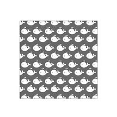 Cute Whale Illustration Pattern Satin Bandana Scarf
