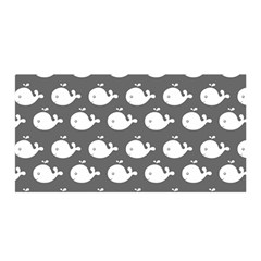 Cute Whale Illustration Pattern Satin Wrap