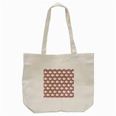 Cute Whale Illustration Pattern Tote Bag (Cream)