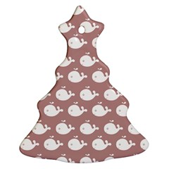 Cute Whale Illustration Pattern Ornament (Christmas Tree)