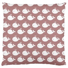 Cute Whale Illustration Pattern Standard Flano Cushion Cases (two Sides)