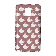 Cute Whale Illustration Pattern Samsung Galaxy Note 4 Hardshell Case