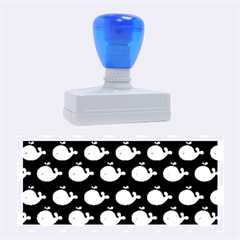 Cute Whale Illustration Pattern Rubber Stamps (large)