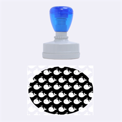 Cute Whale Illustration Pattern Rubber Oval Stamps