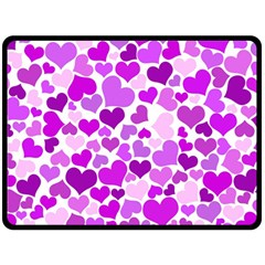 Heart 2014 0929 Fleece Blanket (large)