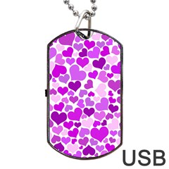 Heart 2014 0929 Dog Tag USB Flash (One Side)