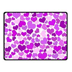 Heart 2014 0929 Double Sided Fleece Blanket (small)