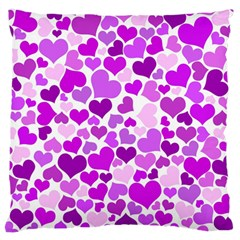 Heart 2014 0929 Large Flano Cushion Cases (two Sides)