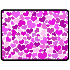 Heart 2014 0930 Double Sided Fleece Blanket (large)