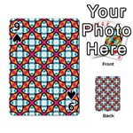 Cute Pattern Gifts Playing Cards 54 Designs  Front - Spade9