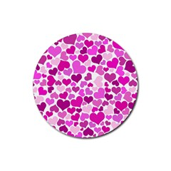 Heart 2014 0931 Rubber Round Coaster (4 Pack)