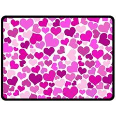 Heart 2014 0931 Double Sided Fleece Blanket (Large)