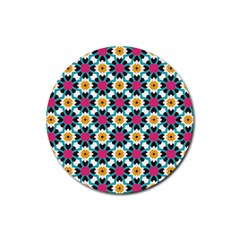Cute Pattern Gifts Rubber Round Coaster (4 Pack)