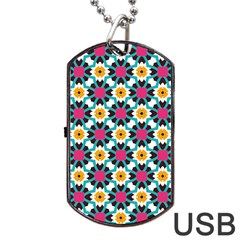 Cute Pattern Gifts Dog Tag USB Flash (One Side)
