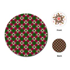 Cute Pattern Gifts Playing Cards (Round)