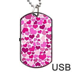 Heart 2014 0932 Dog Tag USB Flash (One Side)