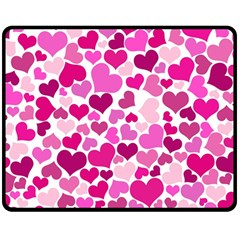 Heart 2014 0932 Double Sided Fleece Blanket (Medium)