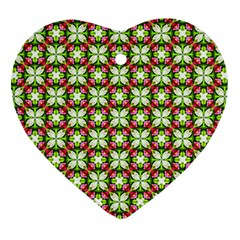 Cute Pattern Gifts Heart Ornament (2 Sides)