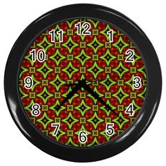 Cute Pattern Gifts Wall Clocks (black)