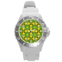 Cute Pattern Gifts Round Plastic Sport Watch (l)