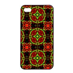 Cute Pattern Gifts Apple iPhone 4/4s Seamless Case (Black)