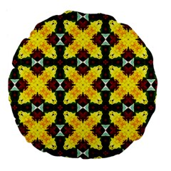 Cute Pattern Gifts Large 18  Premium Flano Round Cushions