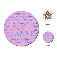 Anne Playing Cards (Round)