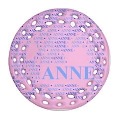 Anne Round Filigree Ornament (2Side)