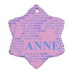 Anne Snowflake Ornament (2-Side)