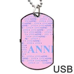 Anne Dog Tag USB Flash (Two Sides)