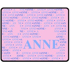 Anne Double Sided Fleece Blanket (medium)
