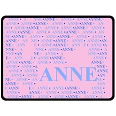 Anne Double Sided Fleece Blanket (Large)