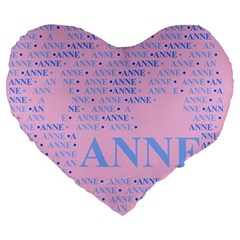 Anne Large 19  Premium Flano Heart Shape Cushions
