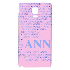 Anne Galaxy Note 4 Back Case