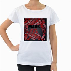 Mark Women s Loose Fit T Shirt (white)