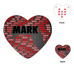Mark Playing Cards (heart)