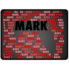Mark Fleece Blanket (large)