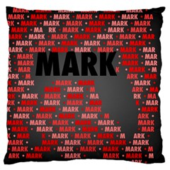 Mark Large Flano Cushion Cases (two Sides)
